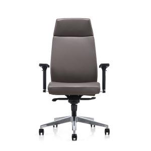 High back PU Office Swivel Chair with Plastic armrest, Aluminum base (YF-828-0884)