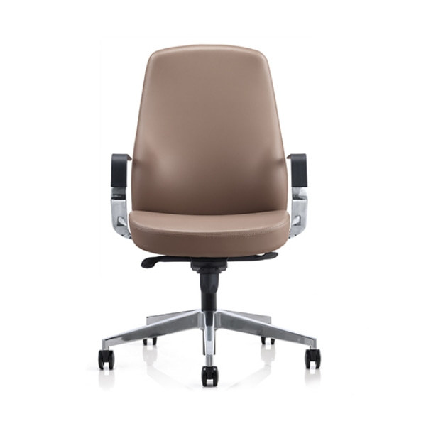 Mid-back PU Leather Office Executive Chair with Aluminum Armrest and Base (YF-623-077)