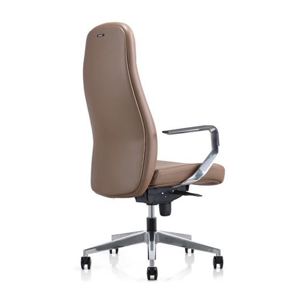 Big and Tall PU Leather Office Executive Chair with Aluminum Armrest and Base (YF-823-077)