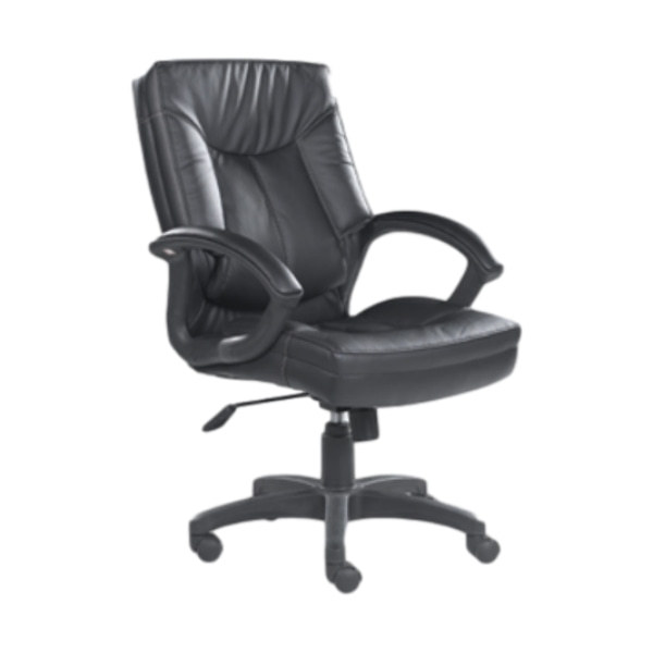 Mid-Back PU Leather Office Executive Chair with Nylon Armrests and Nylon Base (HF-366-1)