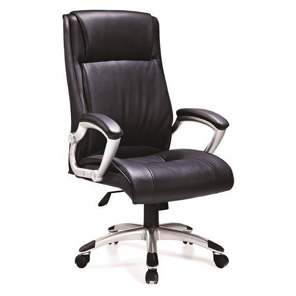 High Back PU Leather Office Swivel Chair with 350mm Nylon Base(HF-526)