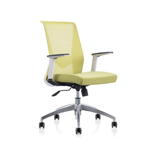 Mid Back Mesh+PU Office Swivel Chair with PP Armrest and Aluminum Base (YF-6630W-118W)
