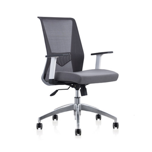Mid Back Mesh+PU Office Swivel Chair with PP Armrest and Aluminum Base (YF-6630S-119W)