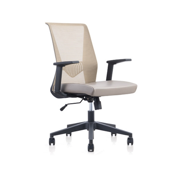 Mid Back Mesh Office Swivel Chair with PP Armrest and Nylon Base (YF-6630B-118)
