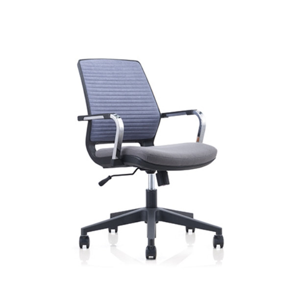 Low Back Mesh Office Task Chair with Chrome Armrest and Nylon Base(YF-6622B)