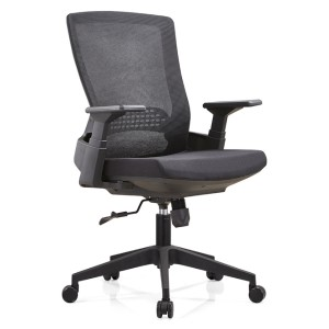 Middle Back Mesh Task Chair with nylon base and PP armrest(YF-B32)