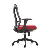Middle Back Office Mesh Task Chair with Nylon Base and PP Armrest(YF-B30-1)