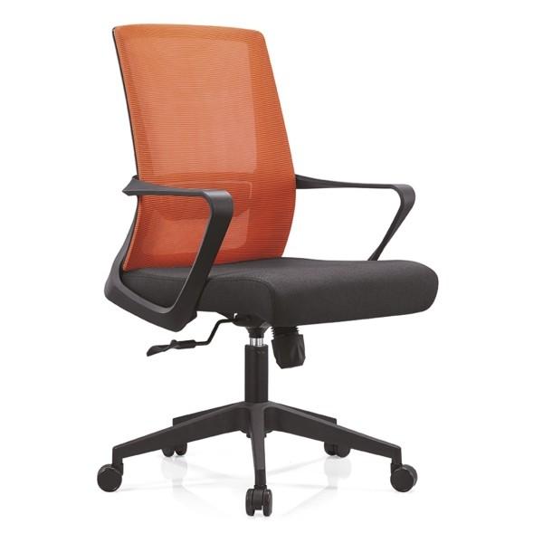 Middle Back Office Task Chair with Nylon Base (Chrome Base) and Armrest(YF-B15)