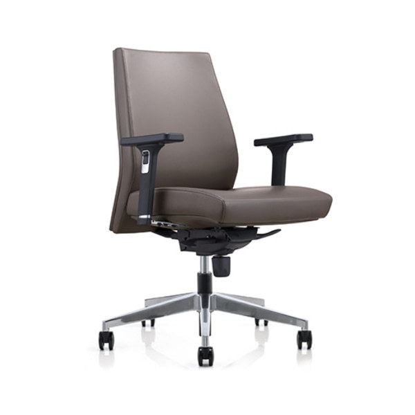 Mid-back PU Office Swivel Chair with Aluminum base (YF-628-0884)