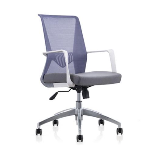 Mid-back Mesh Office Swivel Chair with PP back frame and armrest,Aluminum Alloy Base(YF-6629S/W)