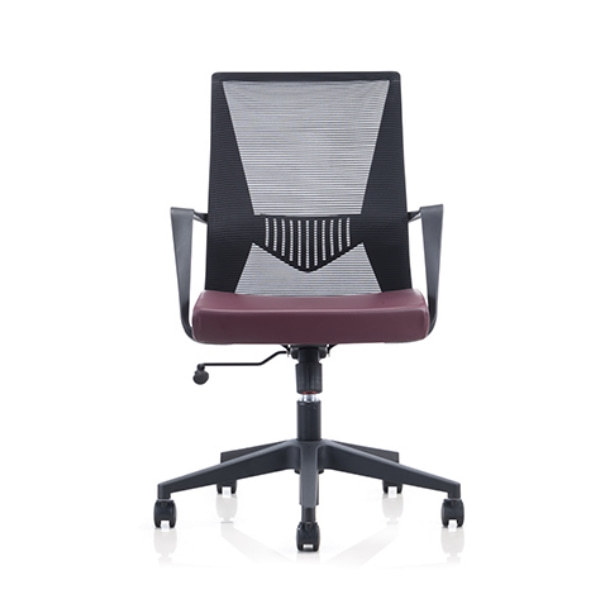 Middle Back Mesh Office Task Chair with PP Back and Armrest, Nylon Base