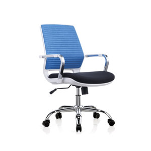 Low Back Mesh Office Task Chair with Chrome Armrest and Aluminum Base(YF-6622W)
