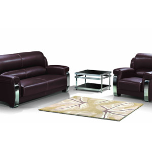 Modern Office Sofa, stainless steel base and frame, sofa fabric available in PU and leather (SF-838)
