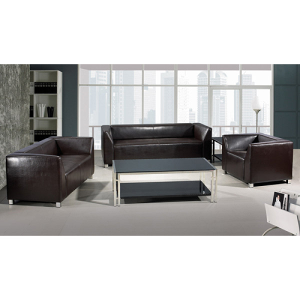 Modern Office Sofa, stainless steel base and frame, PU and leather Fabric (SF-892)