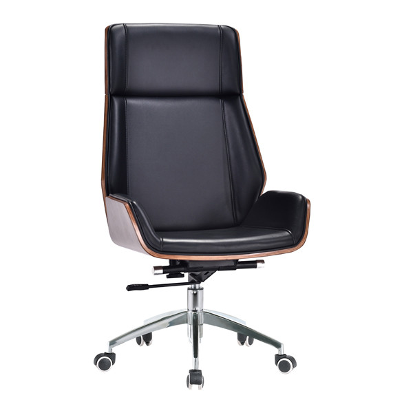 High back PU Office Executive Chair with Plastic cover, Chrome base.(YF-D-001)