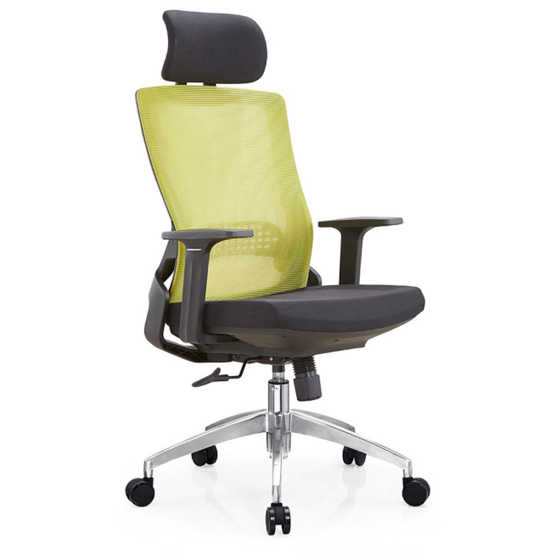 High Back Office Mesh Executive Chair with Aluminum Base and nylon Armrest(YF-A35-1).