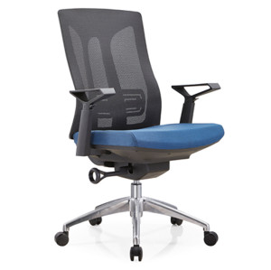 Middle back mesh executive chair with alumnium base and nylon height adjustable armrest(YF-B30-2)