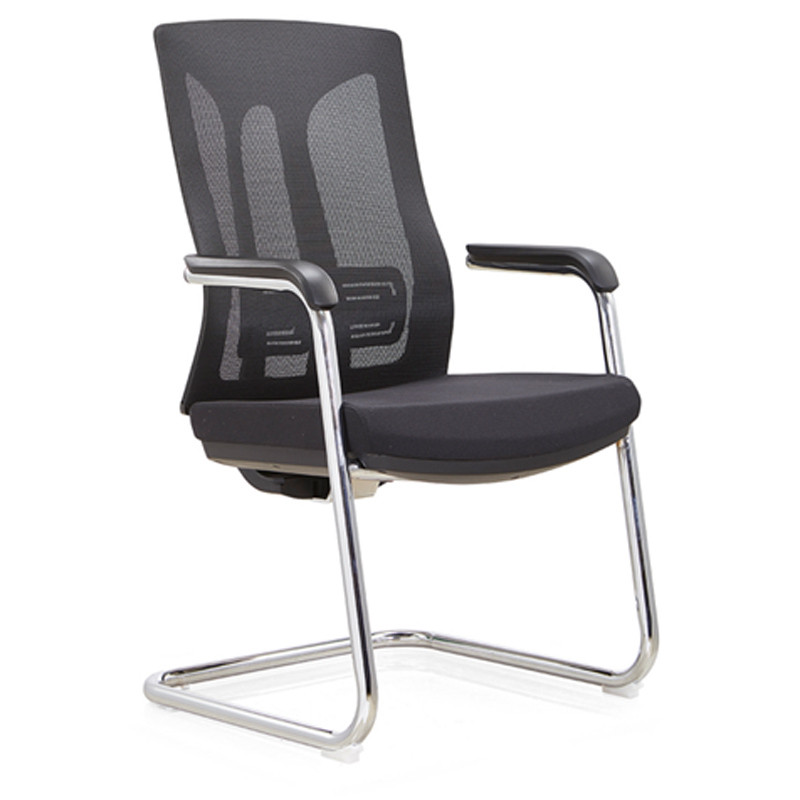 Middle Back Office Meeting mesh Chair with PA back frame and chrome base,PU armrest(YF-C30-2)