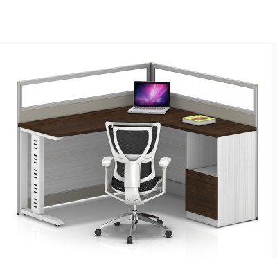 Office single Workstation computer desk,with the single drawer fixed cabinet(YF-YM101A)