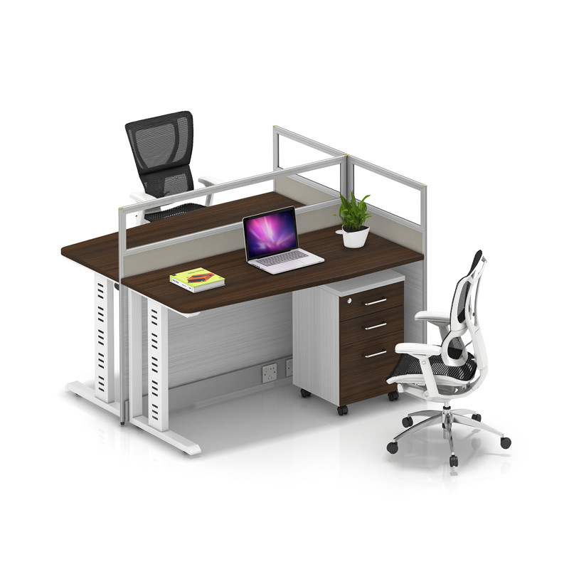 Wholesale modern modular 2 people office desk cubicles workstation small office partition(YF-YM202)