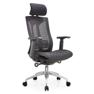 High Back Mesh Executive Chair with aluminum base and 3D nylon+PU pad armrest(YF-A36)
