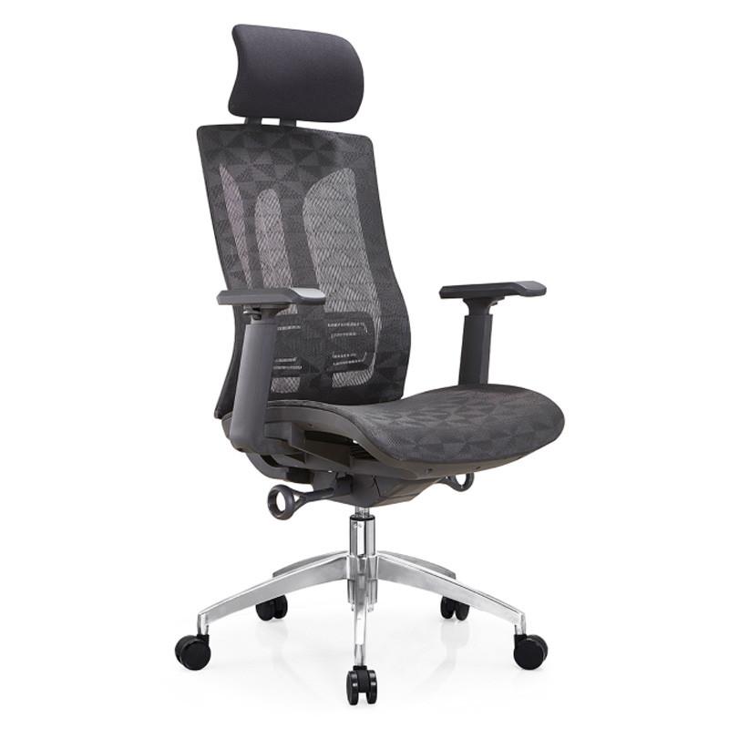 High Back Mesh Executive Chair with aluminum base and 3D nylon+PU pad armrest(YF-A36)