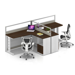 Wholesale modern modular 2 people office desk cubicles workstation small office partition(YF-YM203A)