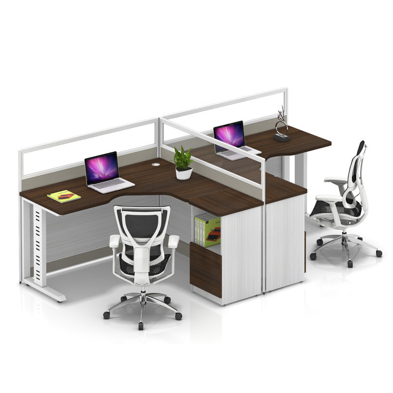 Wholesale modern modular 2 people office desk cubicles workstation small office partition(YF-YM204A)