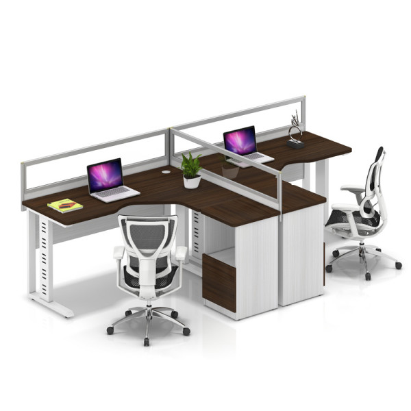Wholesale modern modular 2 people office desk cubicles workstation small office partition(YF-YM204B)