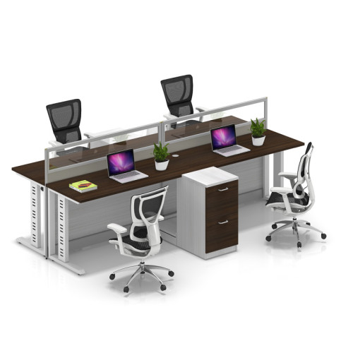 Wholesale modern modular 4 people office desk cubicles workstation small office partition(YF-YM401A)
