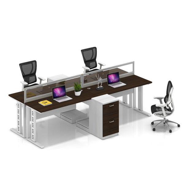 Wholesale modern modular 4 people office desk cubicles workstation small office partition(YF-YM401B)