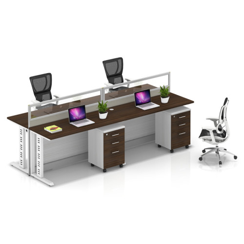 Wholesale modern modular 4 people office desk cubicles workstation small office partition(YF-YM402A)