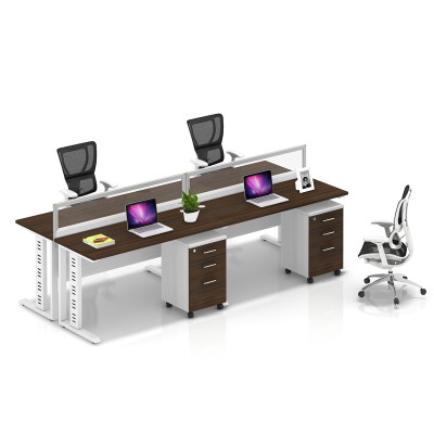 Wholesale modern modular 4 people office desk cubicles workstation small office partition(YF-YM402B)