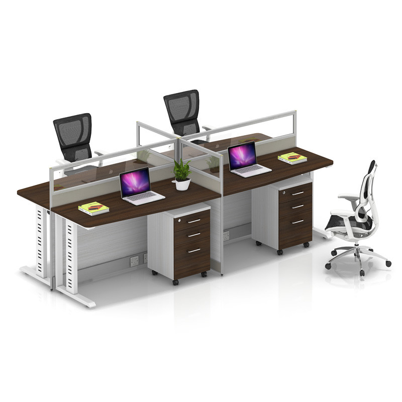 Wholesale modern modular 4 people office desk cubicles workstation small office partition(YF-YM404)