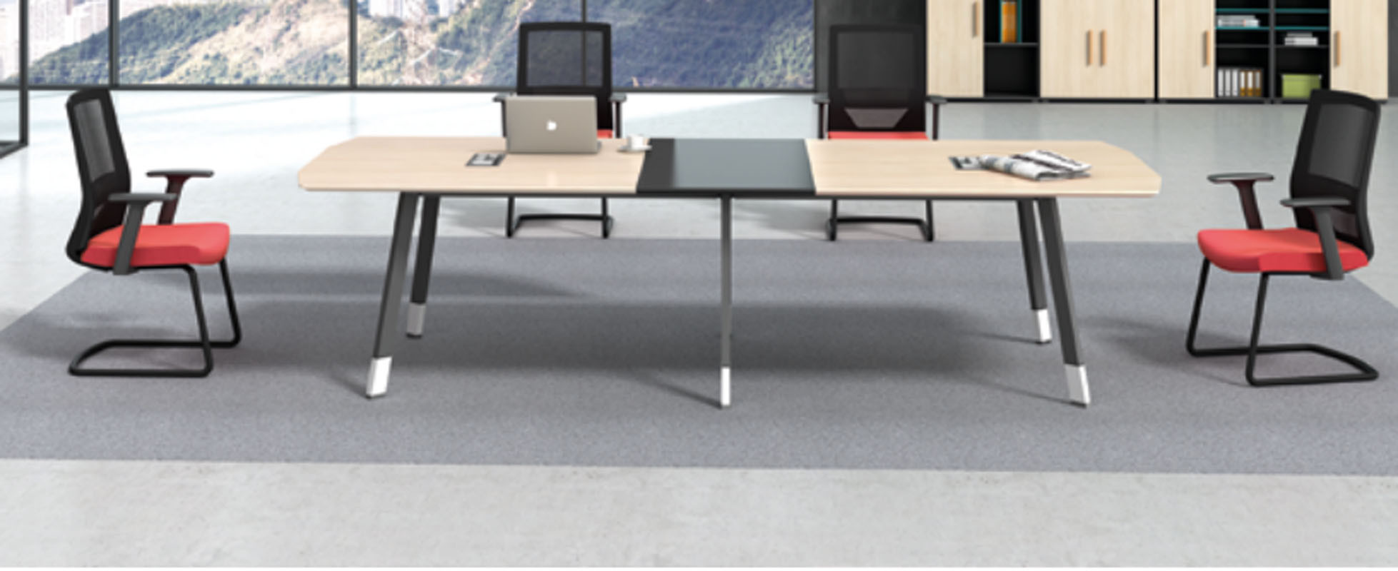 Modern Design Meeting table,made of melamine board and particle board (H4-H0136)