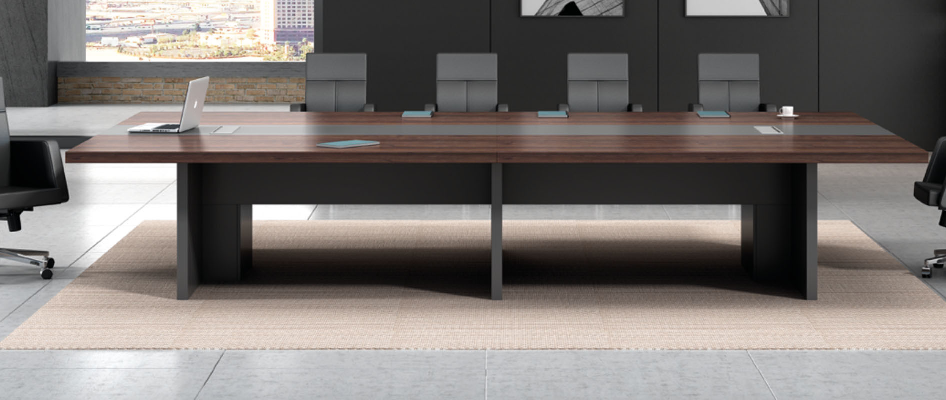 Modern Design Meeting table,made of melamine board and particle board (H3-H0142)