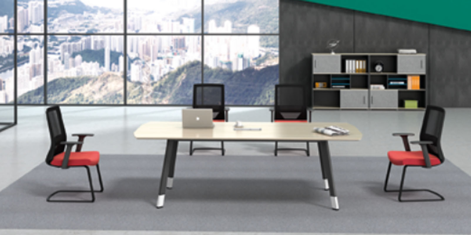 Modern Design Meeting table,made of melamine board and particle board (H4-H0224)