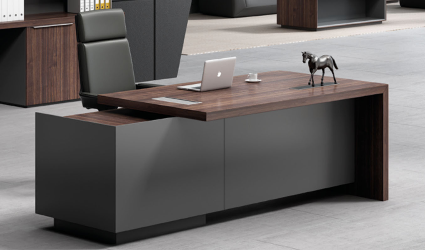 Modern Design Executive Office Desk, Made of Melamine and Laminate(H3-T0322)