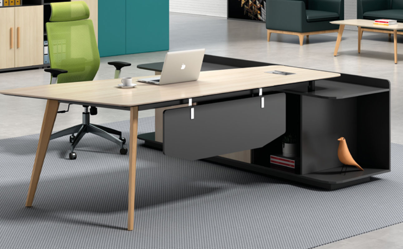 Modern Design Executive Office Desk, Made of Melamine and Laminate(H2-T0124)