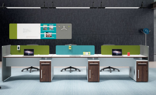 Wholesale modern modular 6 people office desk cubicles workstation small office partition(H1-Z0214-6)