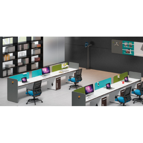 Wholesale modern modular office tables with file cabinet and drawer(H1-Z0214D-3)