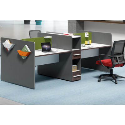 Wholesale modern modular 4 people office desk cubicles workstation small office partition(H1-Z0412-4)