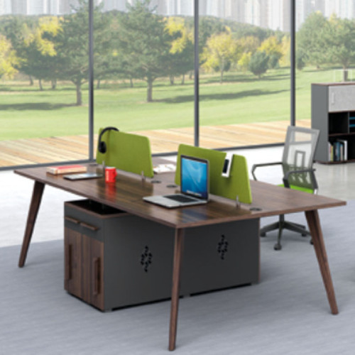 Wholesale 4-person office screen workstation with file cabinet(H2-Z0212-4X)