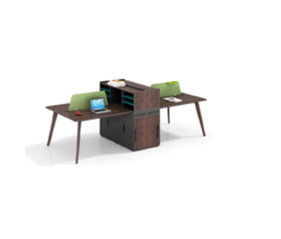 Wholesale modern modular 4 person workstations with file cabinet and drawer(H2-Z0412-4X)