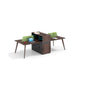 Wholesale modern modular 4 person workstations with file cabinet and drawer,made of melamine board(H2-Z0412-4X)