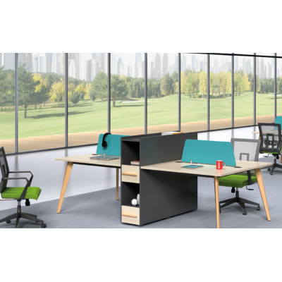 Wholesale modern modular 4 person workstations with file cabinet and drawer(H2-Z0512-4)