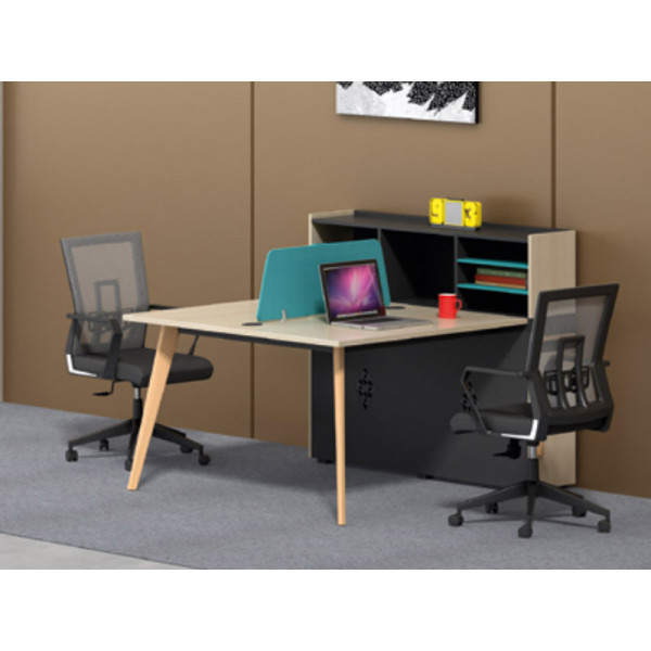 Wholesale modern modular 2 person workstations with file cabinet and drawer,made of melamine board(H2-Z0412-2)