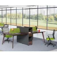 4-person office screen workstation with file cabinet(H2-Z0512-4)