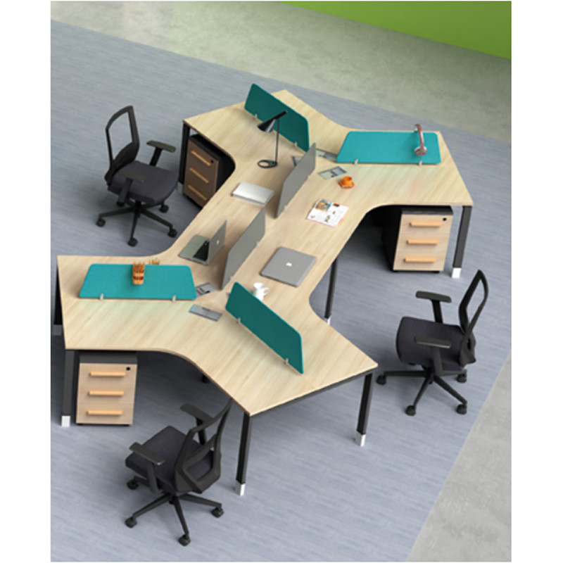 Wholesale modern modular 6 person workstations with file cabinet and drawer(H4-Z0311-6)