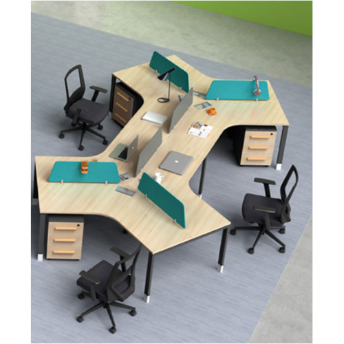 Wholesale modern modular 6 person workstations with file cabinet and drawer,made of melamine board(H4-Z0311-6)